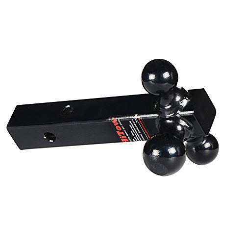 2 Receiver Hollow Shank Black Powder 1-7//8, 2/& 2-5//16 HiTow Multiple-Ball 3IN1 Tri-Ball Mount