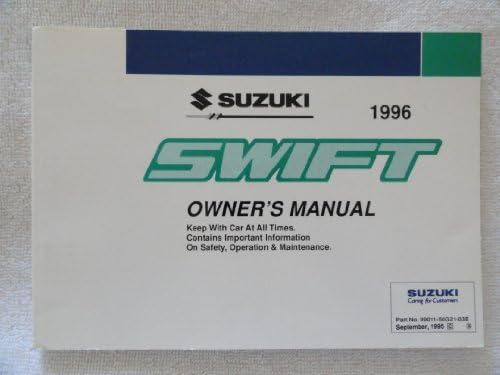 original 1996 suzuki swift owners manual suzuki amazon com books rh amazon com suzuki swift 2010 manual book 2017 Suzuki Swift