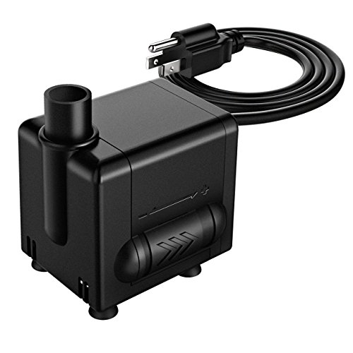Homasy 120 GPH (450L/H, 6.5W) Submersible Pump, Water Pumps For Fish Aquarium, Fountains, Spout and Hydroponic Systems, Detachable Pump with 4.1Ft (1.25M) Power Cord