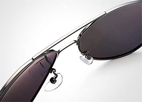 Lunettes en Lunettes pour Noirs Soleil Style Soleil Silver Cercle Unisexe XIYANG Rond polarisées Hommes de rétro inspiré de métal zPwpnqd1