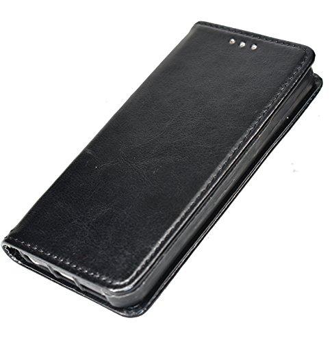iPhone 5 hülle, iPhone 5s Holster hülle,Bookstyle Handyhülle Premium PU Leder + TPU Tasche Flip Case Brieftasche Etui Handy Schutz Hülle für Apple iPhone 5 /5s/SE - Schwarz