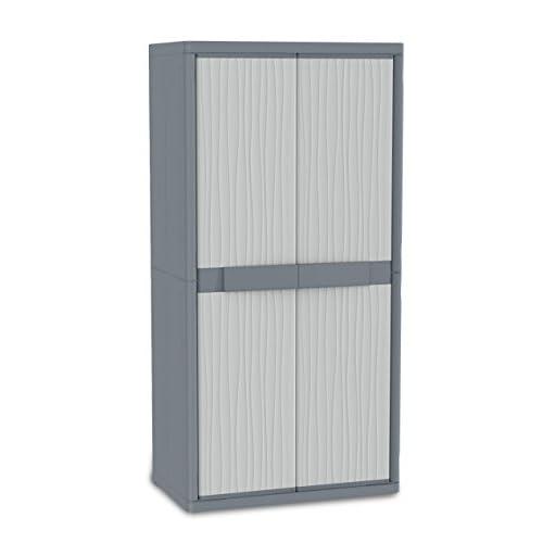 Terry, Jumbo 3900 UW, Armario Exterior 2 Puertas, Divisor Vertical, 4 Estantes Internos, Gris, 89,7x53,7x180 cm a buen precio