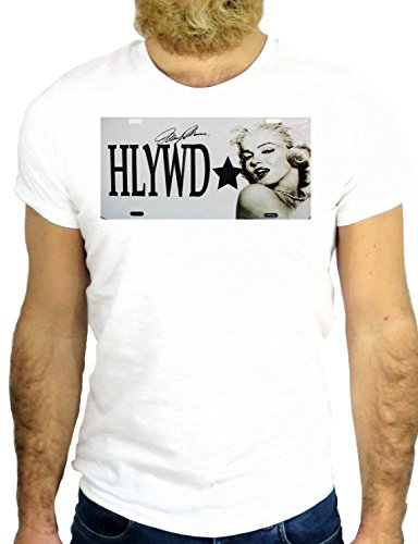 T SHIRT JODE Z2688 MARILYN HOLLYWOOD COOL NICE ROCK HIPSER NAME PLATE VINTAGE GGG24 BIANCA - WHITE L
