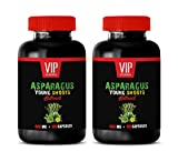 Diuretic and Anti-inflammatory - Asparagus Young Shoots Extract 600 MG - antioxidant Vitamins for Men - 2 Bottles 200 Capsules