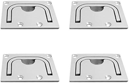 Sharplace Poignee Anneau De Traction En Acier Inox Support Ecoutille De Bateau Poignee Porte