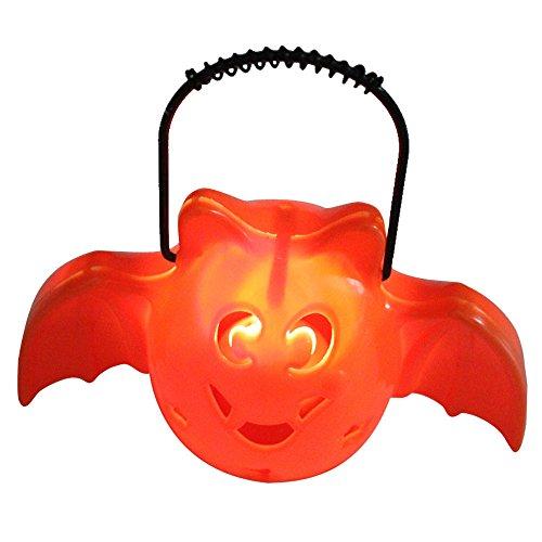 Mosunx Halloween Decorative Supplies Bar Props Color Glowing Pumpkin Ghost Light