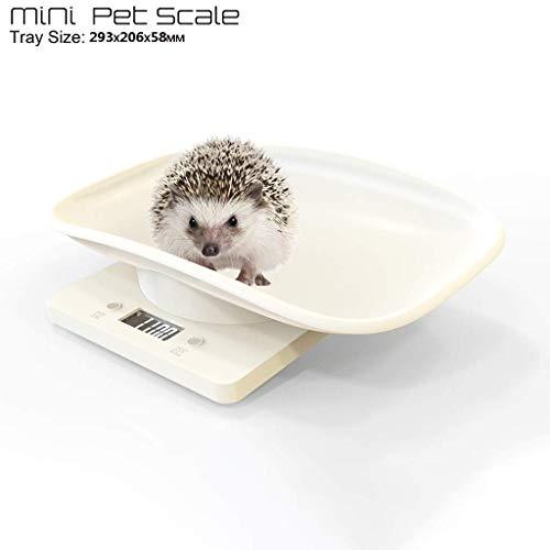 YCZTXSJT Multi-Function Digital Pet Scale, 10KG Accurate Measurement LCD Screen Display White Digital Scale, for Measuring Pet Weight, Measuring Baby Weight, Measuring Small Object Weight.