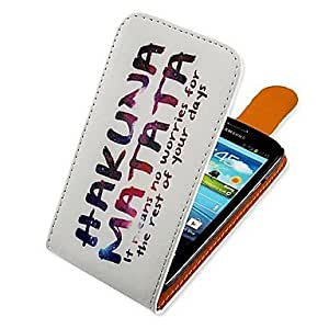 JAJAY-Colorful Lettern Up-down Turn Over PU Leather Full Body Case for Samsung Galaxy S3 I9300