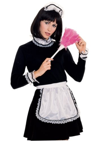 Rubie's Women's French Maid Costume Accessory Kit, Black/White, One (Turn Black Dress Into Halloween Costume)