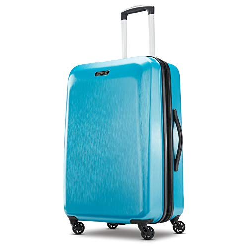 (American Tourister Checked-Medium, Teal Blue)