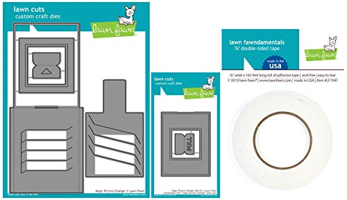 (Lawn Fawn - Interactive Magic Picture Changer Die, Stitched Frame Add-On Die and Double-Sided Tape)