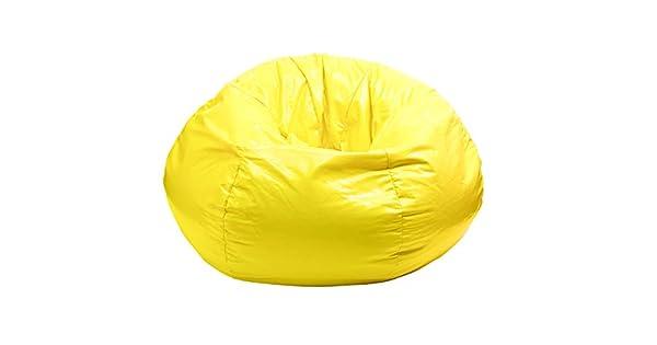 Gold Medal Bean Bags Wet Look Vinyl Bean Bag Medium//Tween Yellow Hudson Industries 30010509216