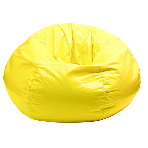 Gold Medal Bean Bags 30010509216 Gold Medal Glossy Vinyl Bean Bag, Small, Sunshine Yellow