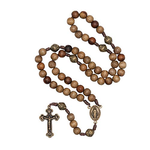 Intercession Our Father Sacred Handmade Solid Wood Rosary (Sacred Heart - - Sacred Designs Heart