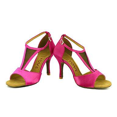 Zapatos Blanco Negro Azul Morado Rojo baile de Rosa Salsa Tacón Personalizado White Latino Amarillo Personalizables F8qrFnR