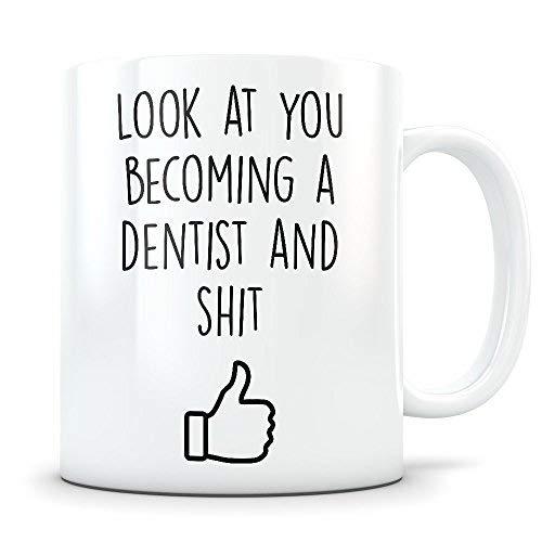 (Dental Graduation Gifts Dentist Graduates Dentistry Coffee Mug for Men and Women School Students Class of 2018 Funny Grad Degree Congratulations for Future Dentist )