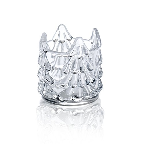 - Celebrations by Mikasa by Rejoice Crystal Christmas Tree Votive Candle Holder, 3.5-Inch