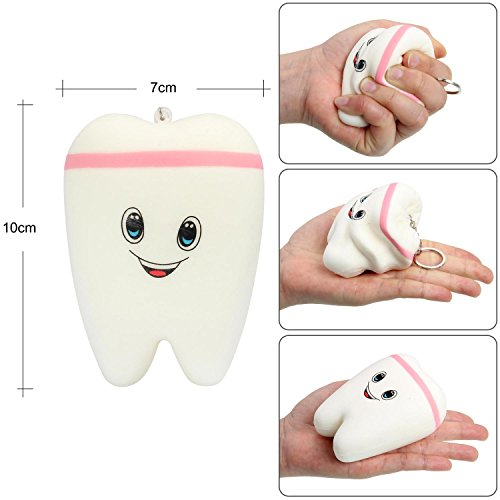 OYE HOYE 4PCS Jumbo Squishies Slow Rising Squishy Toy Set Scented Galaxy Tooth Cute Unicorn Set Charms Stress Reliever for Kids Adult by OYE HOYE (Image #7)