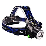 ZWC Jujingyang JY-210 Rechargeable Waterproof 3 Modes 1xCree XM-L T6 Headlamp(2x18650,Black)