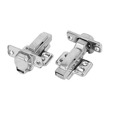DealMux 304 Stainless Steel Detachable Self Close Inset Cabinet Door Hinges 2pcs