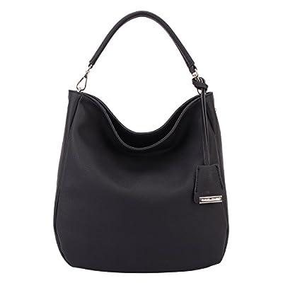 DAVIDJONES Women's Synthetic Leather Shoulder Bag Hobo Bag