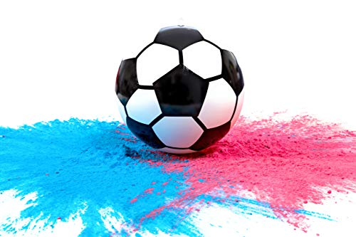 Gender Reveal Soccer Ball with Powder | Exploding Soccer Balls Kit | Includes Pink and Blue Color Packs + Soccer Ball Shell