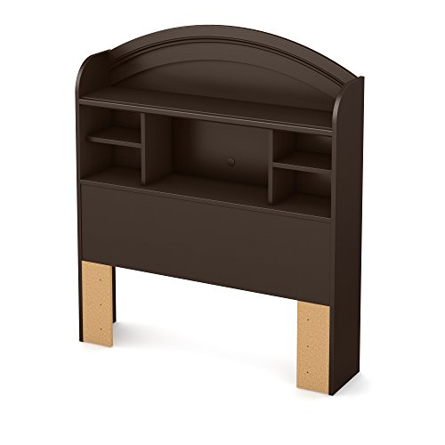 Dew Bookcase Headboard with Storage, Twin 39-inch, Chocolate ()