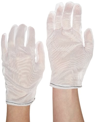 Protective Industrial 98-741/S Nylon Tricot Two Piece Economy Style Women's Glove Liner, 8-1/2'' Length, Small, White (12 Cases of 100) by Thomas Scientific