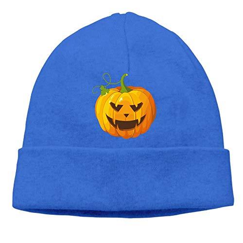 Men's&Women's Halloween Pumpkin Clip Art Soft Skull Cap