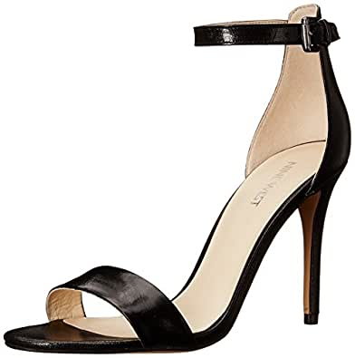 Amazon Com Nine West Women S Mana Leather Heeled Sandal