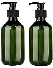 Yebeauty 300ml 10oz Empty Plastic Pump Bottles, Pump Bottle 2 Pack Pump Lotion Dispenser Empty Bottle with Pump Multipurpose for Emulsion Shampoo or Body Wash Bottle,Green