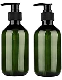 300ml 10oz Empty Plastic Pump Bottles, Pump Bottle 2 Pack Pump Lotion Dispenser Empty Bottle with Pump Multipurpose for Emulsion Shampoo or Body Wash Bottle,Green