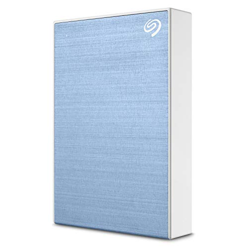 Seagate Backup Plus 5TB External Hard Drive Portable HDD - Light Blue USB 3.0 for PC Laptop and Mac, 1 year MylioCreate, 2 Months Adobe CC Photography (STHP5000402) (Best Brand External Hard Drive For Mac)