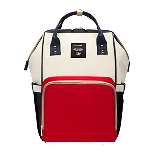 (Baby Bag Travel Backpack Nursing Mom Women Carry Care Bags white red)