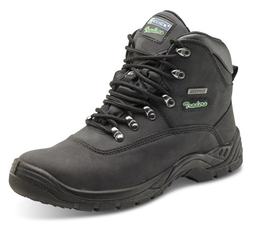 Click Workwear Mens Thinsulate Lined Leather Safety Work Boot - Size 8