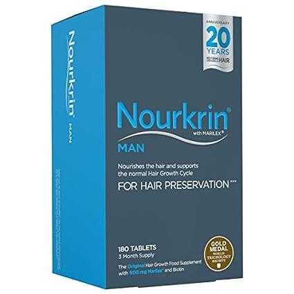 Nourkrin comprimidos de crecimiento del cabello para hombre X 180 ...