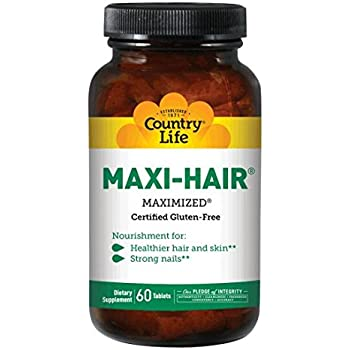Country Life Maxi Hair, 60-Tablet (Pack of 2)