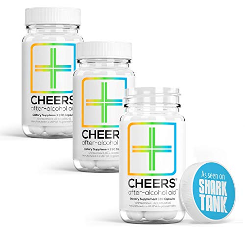 Cheers (Formerly Thrive+) Hangover Cure with Dihydromyricetin (DHM), Hangover Prevention Pills (90 Count) for Morning After Alcohol Recovery - A Flavonoid Supplement with Milk Thistle