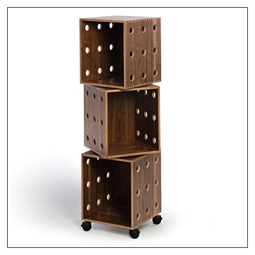 Stack Perf Boxes - OFFI Perf Boxes by Co, stack height = Three; finish = Walnut
