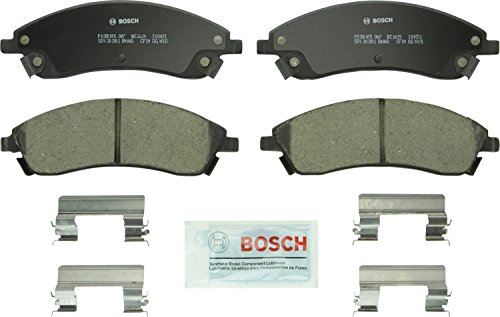 Bosch BC1019 QuietCast Premium Ceramic Disc Brake Pad Set For Cadillac: 2006-2007 CTS, 2004-2009 SRX, 2005-2008 STS; Pontiac: 2004-2005 Bonneville; Front