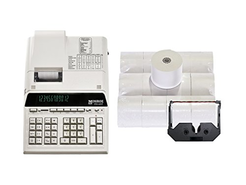 Genuine Monroe UltimateX 12-Digit Printing Calculator With Supplies! by Monroe Systems for Business