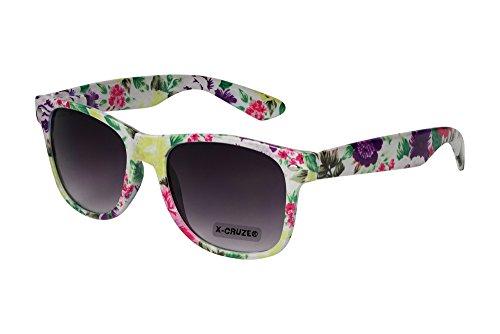 a X21 elegir nbsp;– distintos de Gafas modelos estilo vintage retro colores gafas Cruze® de nbsp;45 Floral sol X style Blanco unisex Nerd Diseño FxHxU