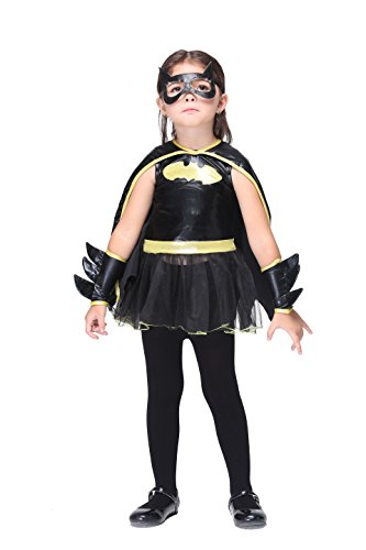 Vivihoo EK074 Halloween Batman Cosplay Party Costume For Little Girl (S) (Cute Indian Costumes For Girls)