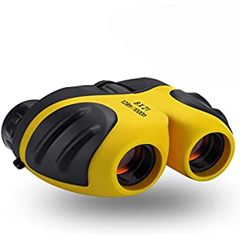 mom&myaboys Compact Shock Proof Binocular for Kids - Best Gifts-Birthday Gifts for Kids (Yellow)