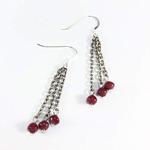 Paper Bead Radiance Earrings - Red - Fair Trade BeadforLife Jewelry from Africa