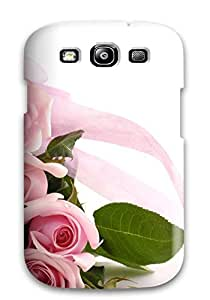 For Galaxy S3 Protector Case Pink Roses Phone Cover
