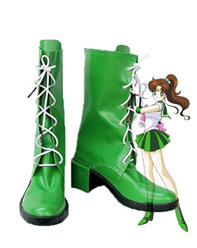 Bromeo Sailor Moon Sailor Jupiter Makoto Kino Cosplay Chaussure Bottes Boots