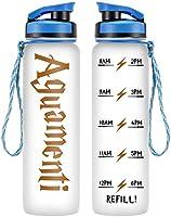 LEADO 32oz 1Liter Motivational Water Bottle w/Time Marker - Aguamenti, HP Merchandise - Funny Potterhead Birthday,...