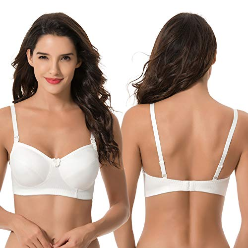 52c0c2bf55182 Curve Muse Women's Nursing Plus Size Wirefree Maternity Bra with Lace  Trim-2 or 3Pack