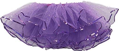 wenchoice Purple Glitter Reversible Tutu Girls
